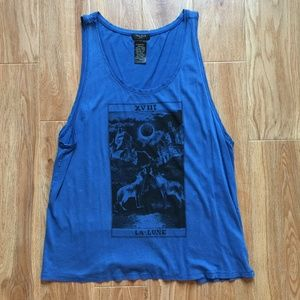 Aritzia Talula Wolves Howling at the Moon Tank L